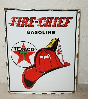 Texaco Fire Chief Vintage Style Porcelain Signs Gas Pump Man Cave Station #3