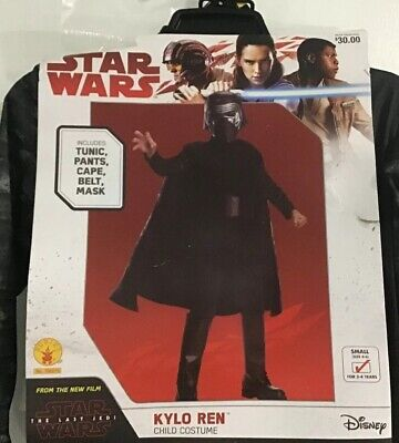 Star Wars Kylo Ren Child Costume Size Small 4-6 NEW