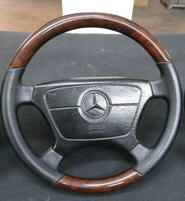 Used, Remanufactured Mercedes Steering Wheel Fits W124 W140 W202 W208 W210 R129 WOOD for sale  Shipping to United States