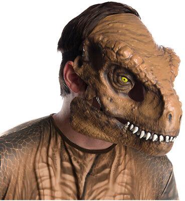 Jura-Welt 2 Herren Erwachsene T-Rex Dinosaurier Bewegliche Kiefer Maske Kostüm
