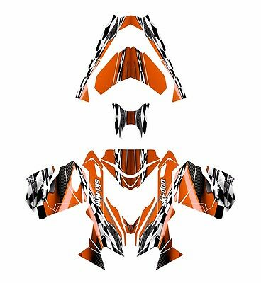 Ski Doo REV XS 2013 2014 2015 graphics sled custom wrap deco kit #2300 Orange