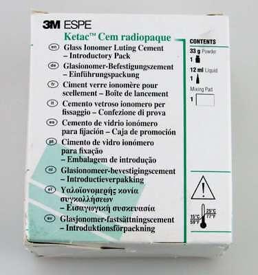3m Ketac Cem Complete Kit 12 Ml Liquid 33 Gm Powder Cement Dental