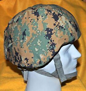 USMC MARPAT MICH Helmet Cover Woodland  NO I/R tab covers  Not Reversible.L/XL