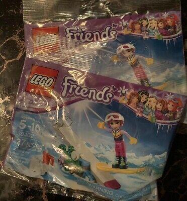 LEGO 30402 Friends Snowboard Tricks with Stephanie Polybag 27pcs - NEW Lot Of 2