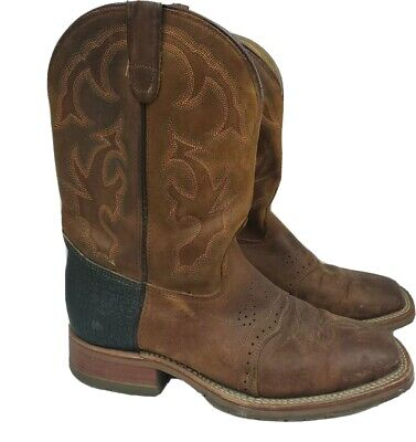 Double H Brown Work Western Cowboy Boots Shoes MADE IN USA DH875 Men's Size 11 D