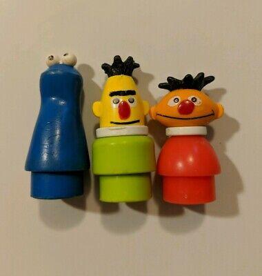 Vintage Fisher Price Sesame Street Figures- Ernie, Bert, and Cookie Monster