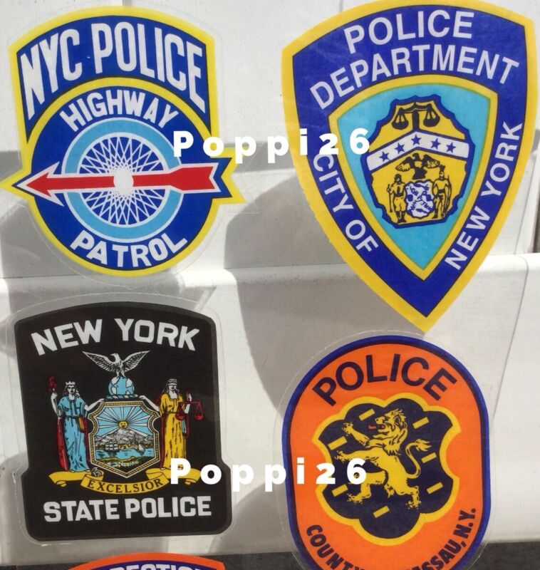NYC, NYPD, NY STATE, NASSAU POLICE OFFICIAL In/Win FACES/ OUTSIDE Decal Sticker