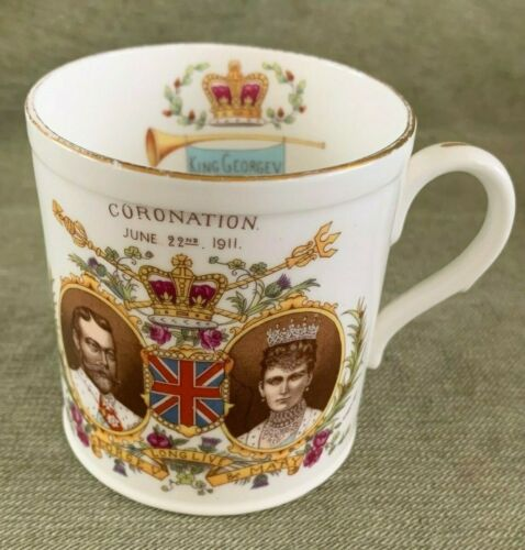 Antique Shelley China King George V Coronation MUG 1911 (Present From Belfast)