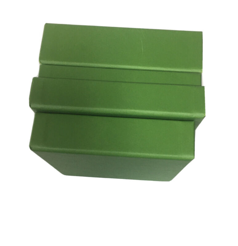 "IRENE NEUWIRTH LOS ANGELES•3 Pc Empty JEWELRY BOXES•5..5""L X 5.25"" W x 3""H Green"