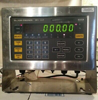 Weigh-tronix Stainless Steel Digital Scale Indicator Wi-127 Used 115vac