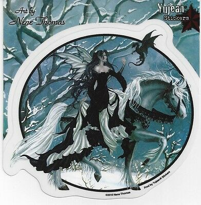 CHANCE ENCOUNTER Fairy & Dragon Sticker Car Decal Nene Thomas faery faerie