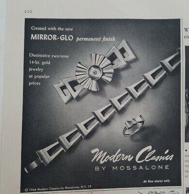 1944 modern classics by Mossalone bracelet pin brooch vintage jewelry ad