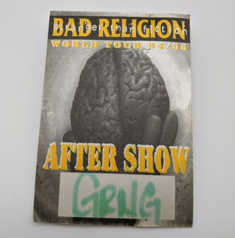 BAD RELIGION Backstage Pass 1994 World Concert Tour Stranger After Show VIP