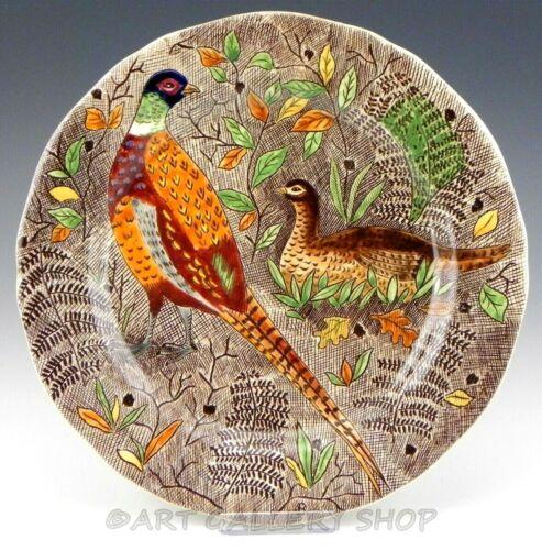 """Gien France RAMBOUILLET 10-1/4"""" PHEASANTS BIRDS DINNER PLATE"""