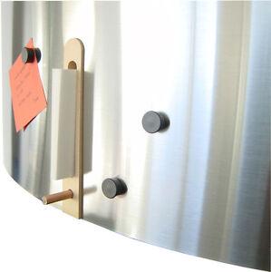 magnettafel pinnwand edelstahl stift magnete zettelbox artikel design 1027 02 ebay. Black Bedroom Furniture Sets. Home Design Ideas
