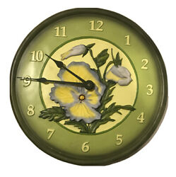 Open Country • Wall Clock • Willow Bay • 3D Floral •