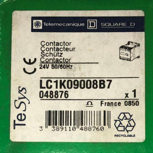 TELEMECANIQUE SQUARE D LC1K09008B7 24V 9 Amp IEC Contactor