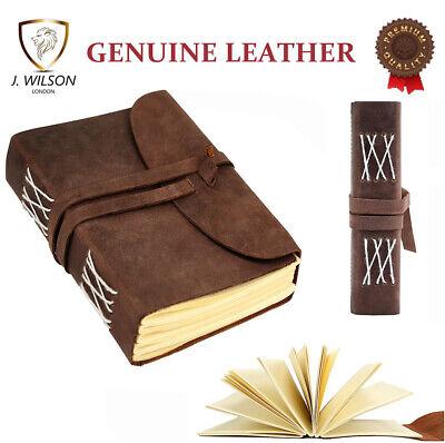 Vintage Leather Bound Diary Travel Memo Notebook Plain Writing Journal Handmade