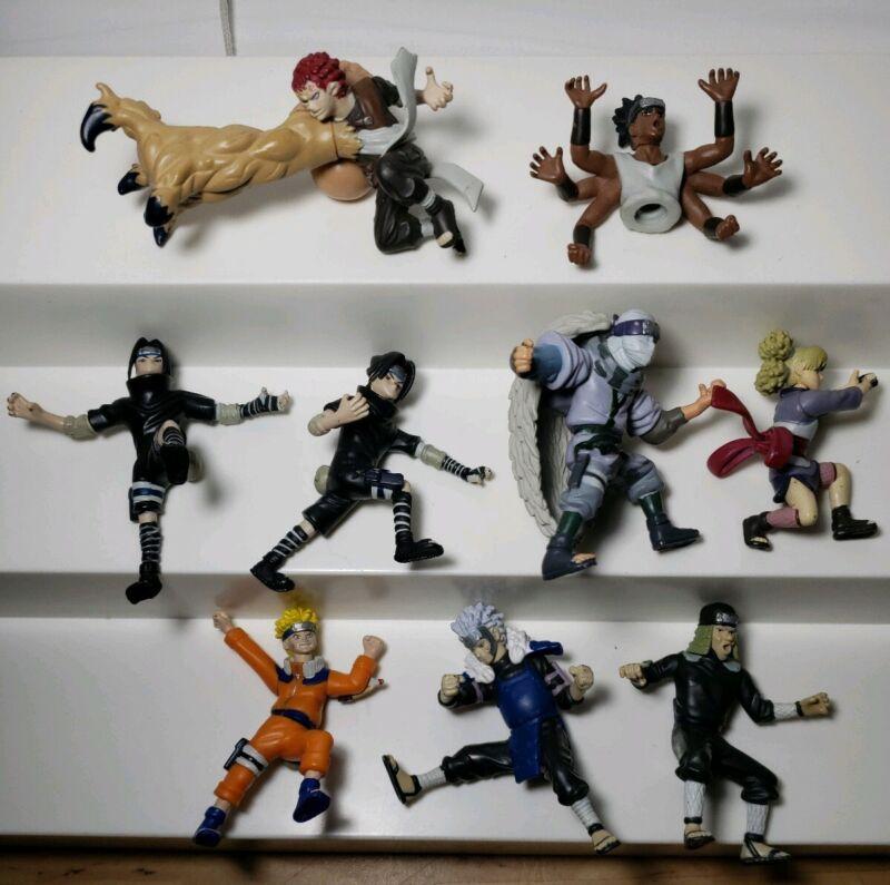 LOT Of Naruto 2002 Poseable Mini Figures Gaara Tibirama Senju Temari