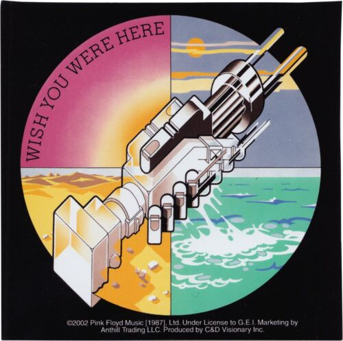 Sticker - Pink Floyd Wish You Were Here 1970s Psychedelic Rock Decal Gift #15205
