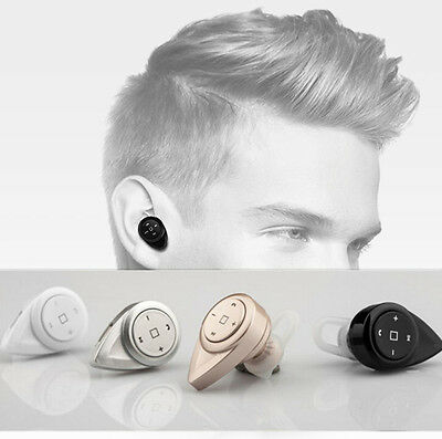Smallest Music Phone Calls Hands Free Stereo Bluetooth Mini Earphone Headset Pat