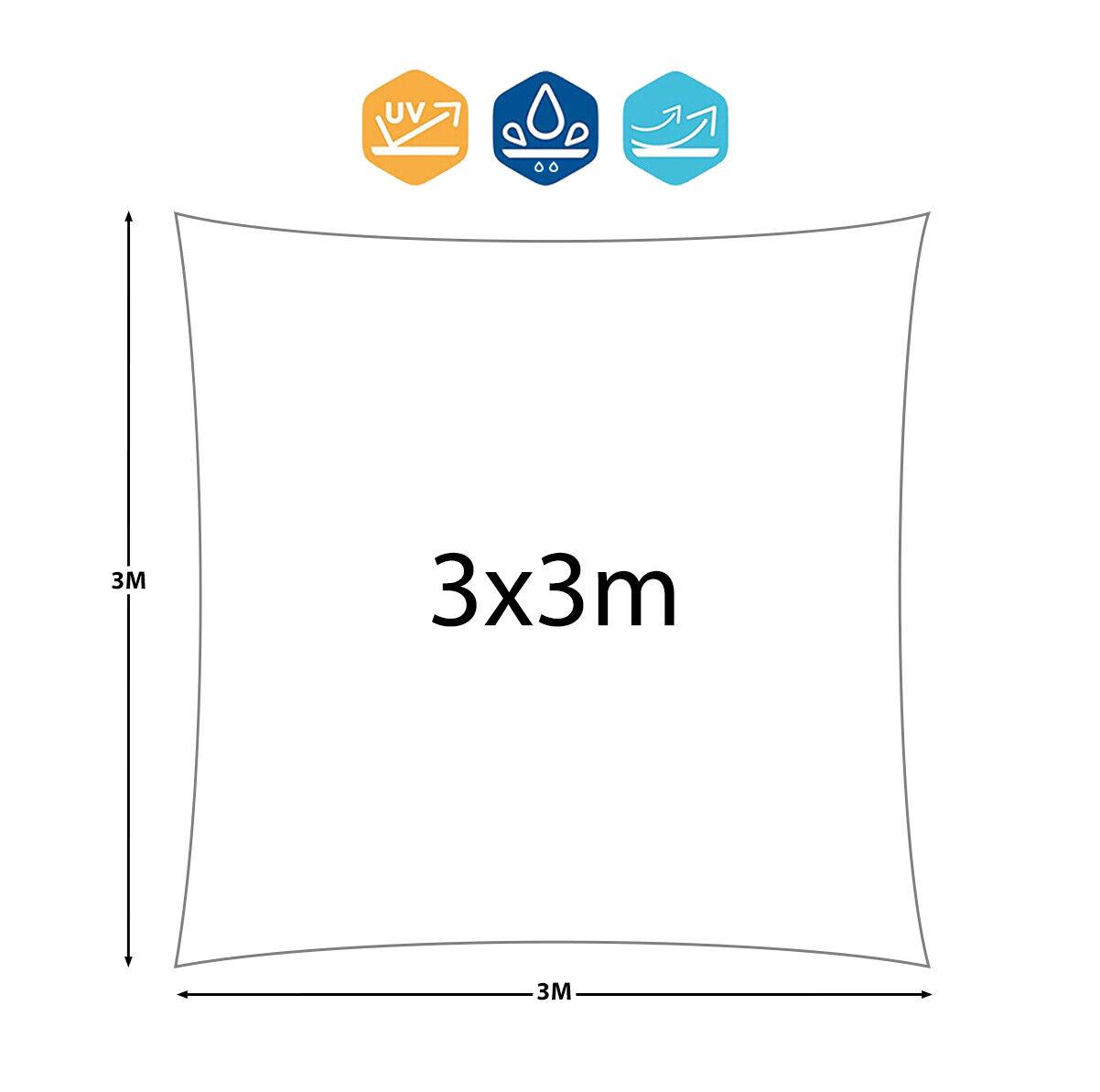 13,99 € per Tenda A Vela Quadrata Ombreggiante Telo Sole Ombra Giardino Parasole 3 5 6 Mt su eBay.it