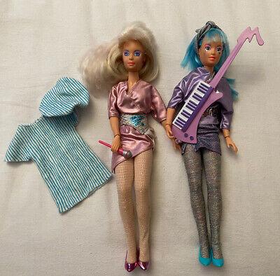 Vintage Hasbro Jem Doll & Aja Doll, Jem & The Holograms, 1985