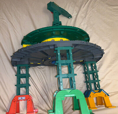 Incomplete Super Station Train Track Set Toy Playset Railway Thomas For Parts