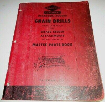 Ford Dearborn 12-39 40 42 83 Grain Drill Master Parts Catalog Book Original