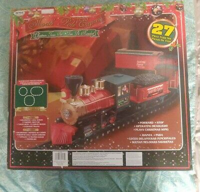 EZTEC 27 Piece Battery Operated Santa Express Christmas Musical Train Set - NIB