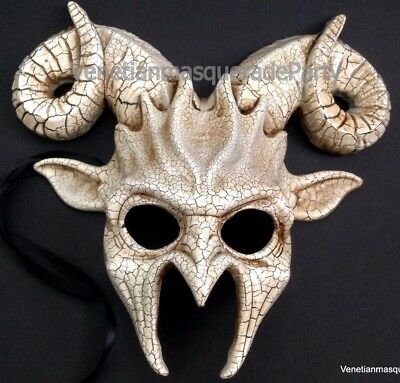 Ram Goat Masquerade Devil Mask Halloween costume Animal party prom Art Wall - Goat Halloween Costume