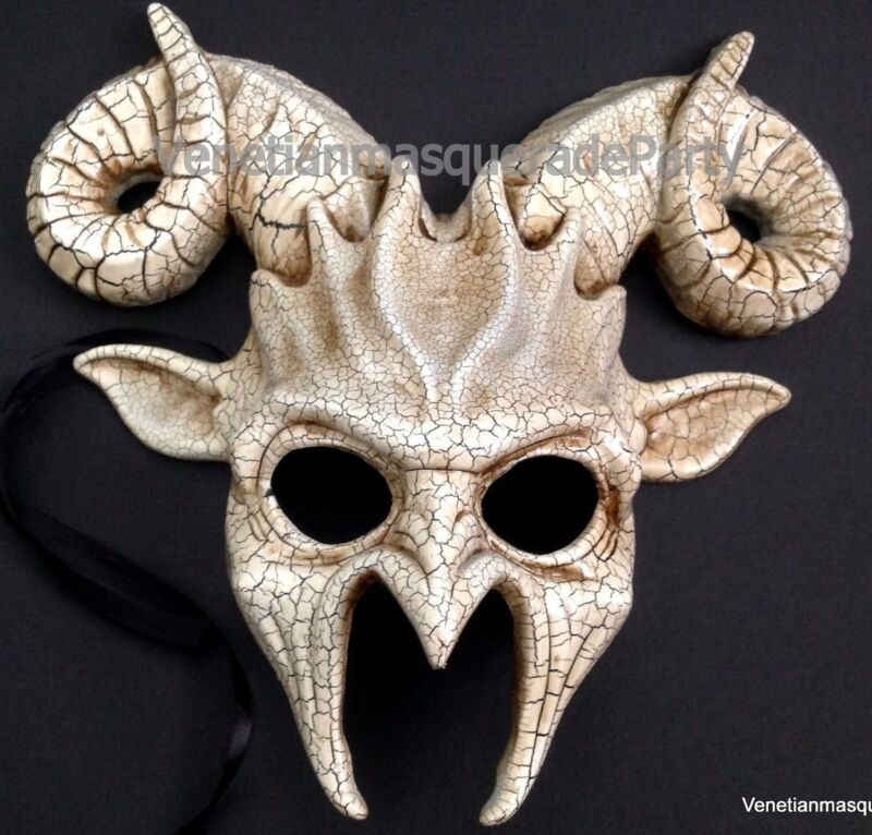 Masquerade RAM GOAT Mask Horns Halloween Costume Haunted House Party WALL Deco