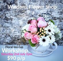 Floral tea cup workshop ! The Junction Newcastle Area Preview