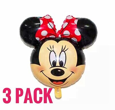 3 Minnie Mouse Balloons Birthday baby shower Party Air Fill FREE SHIP - Baby Minnie Mouse Party Supplies