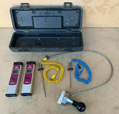 Set Of 2 Atkins Thermocouple Thermometer Series 386 -40c To 1000c