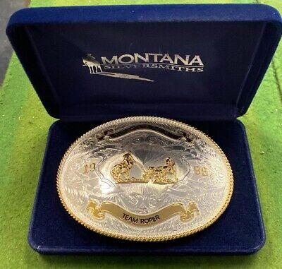 Trophy Rodeo Champion Belt Buckle Muhlenberg Co. Fair Team Roper 1996