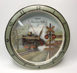 Vintage Panclox Wall Quartz Clock with Hourly Train Sound Effects Works Great!