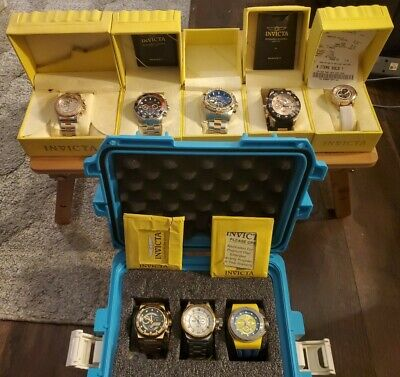 Lot of 8 Invicta Watches ( 7 Men's & 1 Women's)