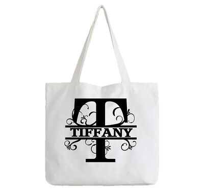 Tiffany Ladies Personalised White Tote Bag Shopping Change Name Gift Birthday