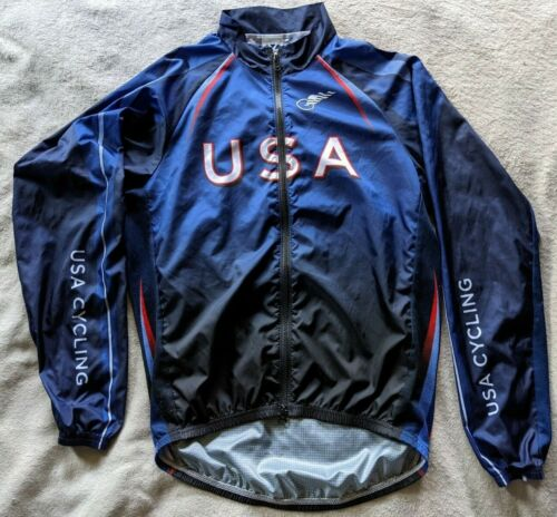 VOLER - USA Windbreaker Jacket Cycling Mens Large L Red Blue White Bicycle