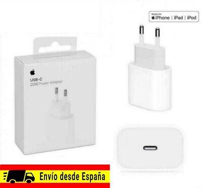 Cargador ORIGINAL APPLE USB-C, 20W power adapter, iPhone 8, X, XS, 11,...