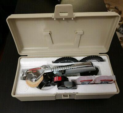 Vtg Dymo M-5 Tapewriter Label Maker Embossing Office Equipment Extra Tape