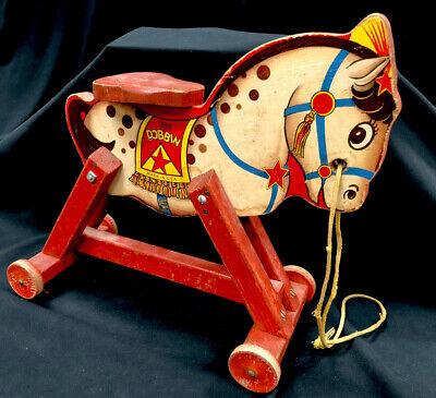 Fisher Price 765 Dandy Dobbin Antique Wooden Riding Horse Circa 1940