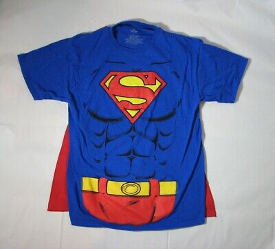 Superman DC Comics Muscle Shirt with Cape Short Sleeve L Halloween Costume