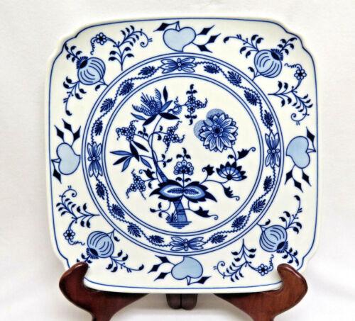 Zwiebelmuster Blue Onion Porcelain Square Platter/Plate