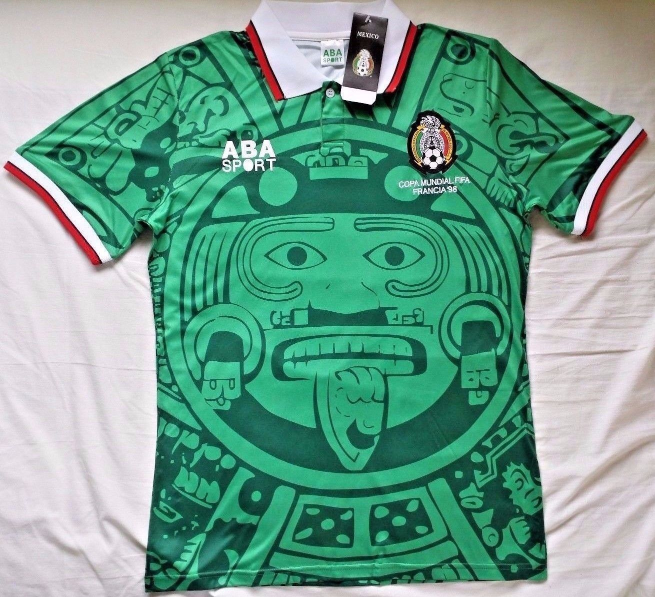4507194ba MEXICO 1998 HOME RETRO VINTAGE FOOTBALL SHIRT