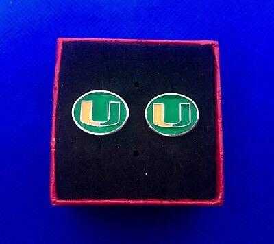 Manschettenknöpfe The U College Fußball Neu Im Box (Miami U Fußball)
