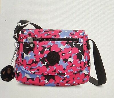 Genuine Kipling Sabian U Shoulder/Crossbody Mini Bag In Spicy Floral Pink
