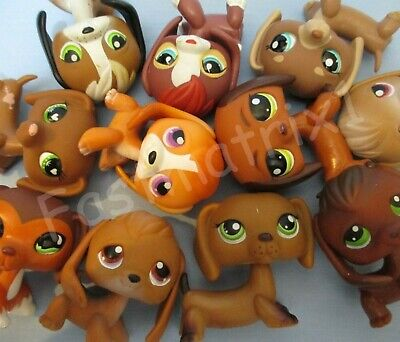 Littlest Pet Shop Random Lot 2 Dog Dachshund Beagle Authentic Lps and Gift Bag