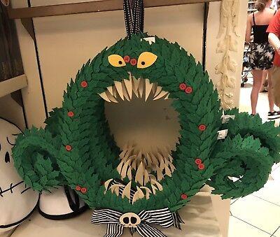 Disney Parks Nightmare Before Christmas Haunted Wreath Hanging Door Decoration